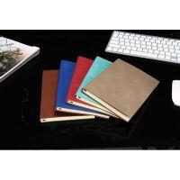 A5复古加厚商务会议记录笔记本羊巴皮面工作大学生办公用品简约150 0078 7420