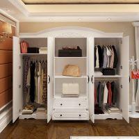 简约现代经济型板式三门衣柜欧式四门五门卧室衣橱白色六门大衣柜