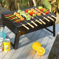 烧烤炉户外野外木炭家用折叠碳小号烧烤架全套工具炉子大号黑钢炉