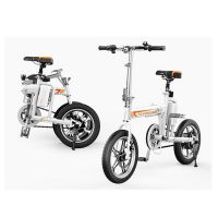 厂家直销爱尔威 R5锂电池电动折叠自行车 成人儿童通用电动代步车