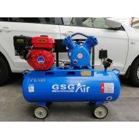 静音无油空气压缩机 便携可移动式小型空压机GSG皮带机汽油动力