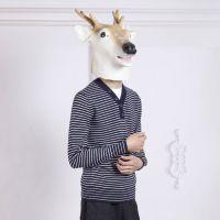 春秋款男士修身长袖潮V领针织打底衫男式三拼针织衫