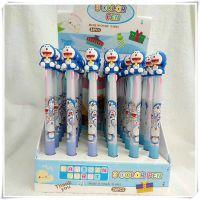 韩版卡通kt奶爸多色圆珠笔创意3D小叮当猫头鹰三色中油笔学生文具
