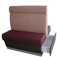专业订做香港餐厅卡座沙发,带储物抽屉沙发,防火沙发带箱子厂家直销