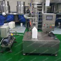 化工日化5L自动液体定量称重式半自动小型灌装机