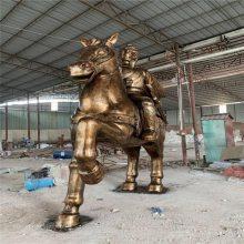 玻璃钢动物马雕塑摆件 战士战马雕塑 广州玻璃钢雕塑厂家