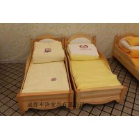 内江/广安实木幼儿园双层床定做 成都木洛使用寿命长