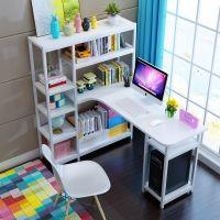 简约电脑学生桌家用经济型书桌书架组合转角桌儿童书桌台式写字桌