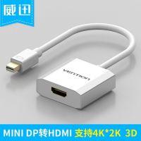威迅 迷你DP转HDMI DisplayPort转hdmi笔记本电脑转换器雷电高清