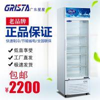 XINGX/星星冷藏柜展示柜保鲜柜200升立式单门商用啤酒饮料水果柜