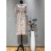 织之佳品牌2019春夏季复合真丝时尚高端连衣裙