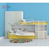 富滋雅儿童床上下双层床男孩女孩卧室高低板式床组合