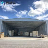 颖东区厂房通道雨棚(布) 户外钢结构遮阳蓬 悬空式电动推拉篷怎么定做?