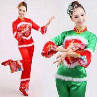 2016***新款中老年秧歌服民族舞蹈服装演出服女秋扇子舞服装腰鼓服