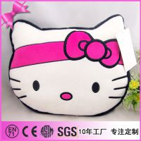 创意家居毛绒饰品 HelloKitty睡觉靠枕 小猫卡通动漫抱枕定制