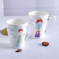 奥美厂家批发陶瓷杯子 创意骨质瓷情侣杯子 家用水杯定制