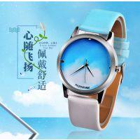 新款PAPHITAK/百菲达 炫彩海洋手表 蓝天白云男女渐变旅行手表