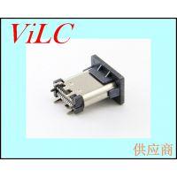 180度24P双排贴片TYPE C母座-六脚直插USB3.1插座 USB-C系列