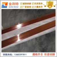 供应工业用C1100紫铜排 半硬宽紫铜排 进口铜排
