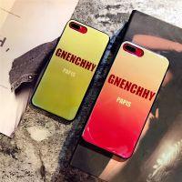 创意渐变字母苹果7 8plus手机壳烤瓷蓝光系列iPhonex全包软壳女