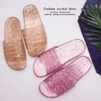 水晶鞋居家塑料拖鞋托鞋夏天凉拖鞋平底家居高跟夏季凉鞋厂家批发