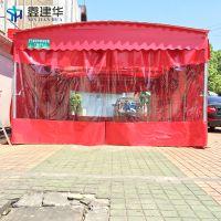 古冶县供应户外各种推拉蓬/餐饮店雨棚布防雨效果怎么样