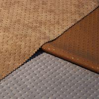 【精品家纺服装面料】空气层麂皮绒超声波压花家纺服装面料布