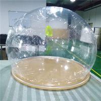 鑫浩天直供亚克力圣诞装饰球透明有机玻璃大半球婚庆球美陈道具