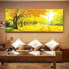 后现代画床头瓷壁画 大幅横版背景壁画 客厅装饰画