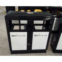 成都高档小区垃圾箱 旅游景区定制垃圾桶 地面可固定的防止挪动的垃圾桶