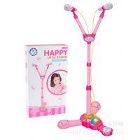女孩生日创意礼物带灯光音乐益智早教玩具双麦克风随身卡拉OK