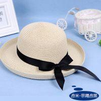 防晒女夏小清新韩版百搭折叠户外草帽出游遮阳度假海边沙滩太阳帽