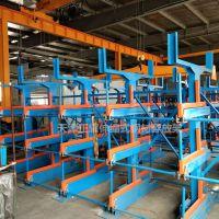 江苏悬臂货架规格 伸缩式管材货架结构示意图 放钢材专用