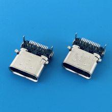 USB TYPE-C母座 FEMALE CL=1.75 H=3.46前贴后插DIP+SMT 双壳