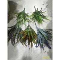 仿真植物墙装饰素材 假花假草插花装饰 仿真小花小草工厂定量批发