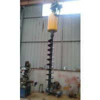 滑移装载机配螺旋钻价格 各种铲车配挖坑机 埋电线杆旋挖钻