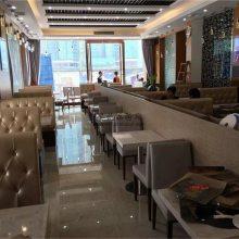 贵阳港式饭店家具定做,港式餐厅卡座沙发桌子组合