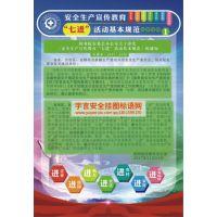 """安全生产""""七进""""活动基本规范宣教挂图 编号YU1762 规格50x70cm 数量8张/套"""