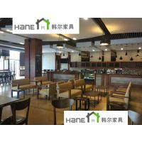 宁波星巴克吧台 HL02星巴克吧桌椅订制 上海韩尔品牌