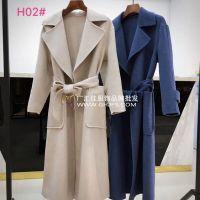 18冬季阿尔巴卡双面羊绒大衣三标齐全广州折扣批发