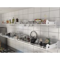加厚不锈钢微波炉架厨房置物架储物架墙上收纳收纳整理杂物架定做