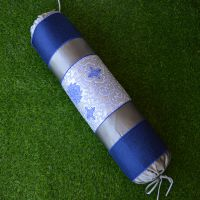 时尚现代中式真丝绸缎织锦糖果枕颈椎枕护颈枕圆形一件代发可定制