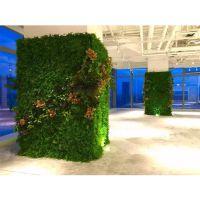 办公室装修植物墙有什么作用?东莞厂家绿植墙假草墙定制安装