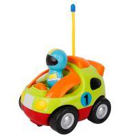 一件代发遥控音乐灯光卡通警车遥控车儿童玩具多色遥控车现货