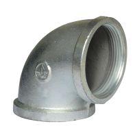 厂家供应 镀锌玛钢管件丝扣弯头DN50 2寸洒水车清洗车环卫配件