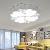 现代简约吸顶灯 北欧创意客厅吸顶灯六角彩色马卡龙卧室LED灯具