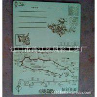 厂家定做湘西凤凰古城景点明信片 许愿祈福木挂件 旅游团纪念品
