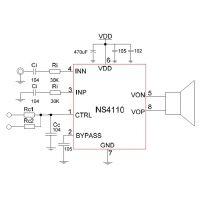 NS4110 宽电压5V-18V、 20W单声道AB/D类双模音频功放IC
