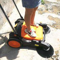 工业用手推式扫地机 户外马路扫树叶烟头用扫地机