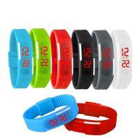 新款LED时尚炫酷情侣手环腕表运动糖果色硅胶防水电子迷你手表